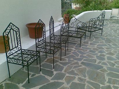 Muebles forja galvanizados y pintados